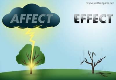 Phan biet affect va effect trong tieng Anh